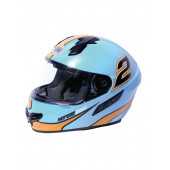 Full Face Gulfstream Helmet - Blue/Orange