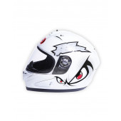 Full Face 706 Eyes Helmet - White/Red