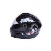 Full Face 706 Eyes Helmet - Black/Red