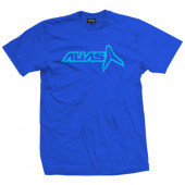 Hollowed T-shirt - Blue/Cyan