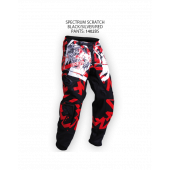 Spectrum Scratch Pants – Black/Silver/Red