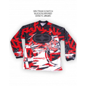 Spectrum Scratch Jersey – Black/Silver/Red