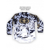 Spectrum Scratch Jersey – Black/Silver/Gold