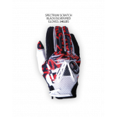 Spectrum Scratch Gloves – Black/Silver/Red