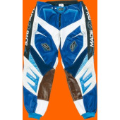 Gladiator Pants - White Blue